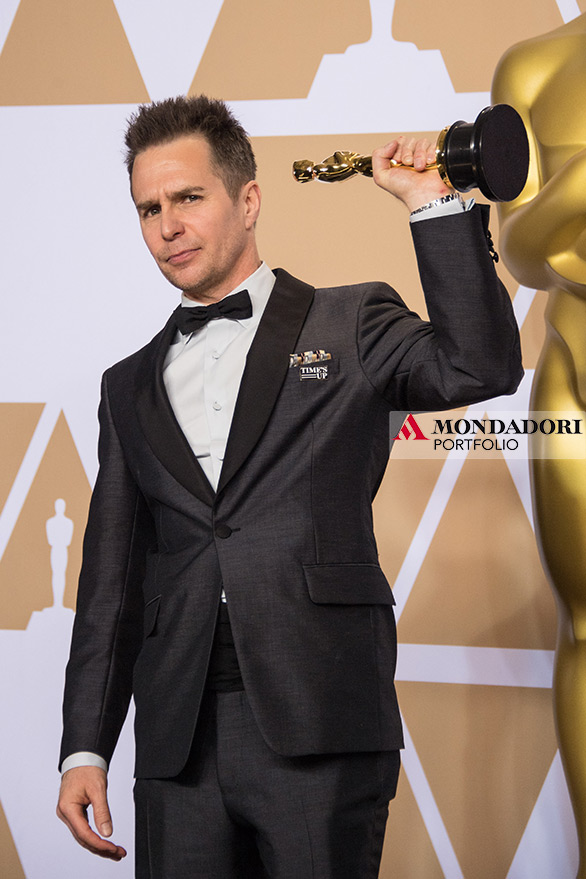 """L'Oscar per miglior attore non protagonista invece è andato a Sam Rockwell, per il suo ruolo in """"Tre manifesti a Ebbing, Missouri"""""""