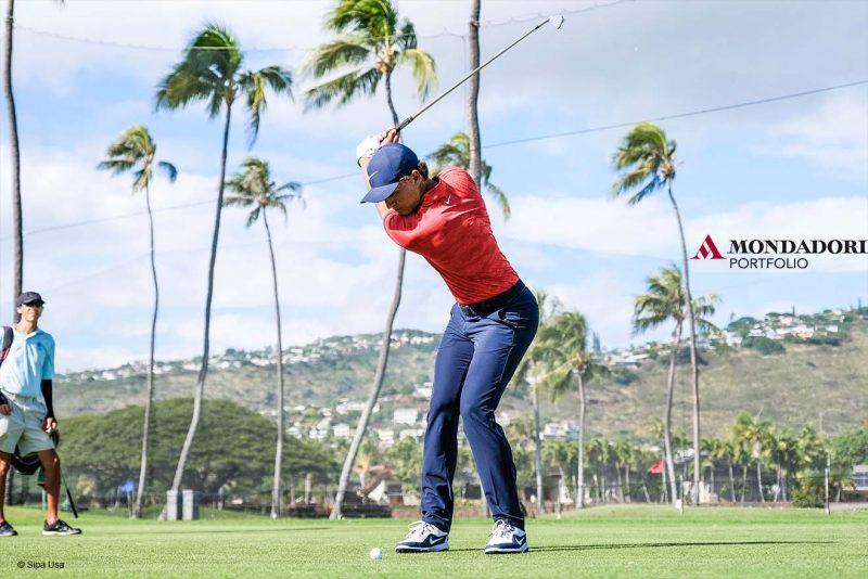 Sport Internazionale: Honolulu, Hawaii: Cameron Champ si allena prima del Sony Open al Waialae Country Club di Honolulu.