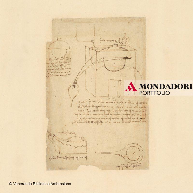 Leonardo da Vinci (1452-1519), Codice Atlantico (Codex Atlanticus), foglio 216 recto. Note sul vento, sulla pioggia e sul moto dell'acqua che scende dai monti.